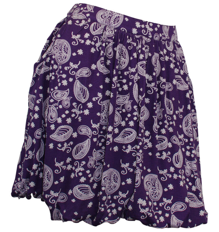 Ballonrock Rock Mini Minirock Paisley Muster Stretch Skirt Lila 859099