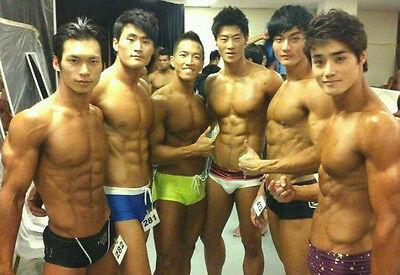 Shirtless Male Beefcake Hunks Asian Swim Suit Contest Muscle Guy PHOTO 4X6  P1620 | eBay