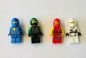 Lego Ninjago Minifigure Kai  Cole Zane Jay Job Lot with weapons X 4