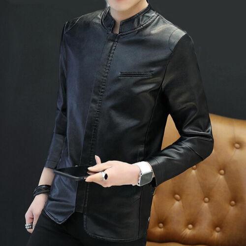 Débardeur Goth Full Zip PU cuir vestes Trench outwear Loisirs Stand Col Manteau