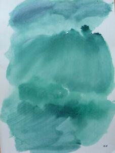 Joseph Iliu (1914-1999) Grande Composition Abstraite Gouache Sur Papier (90)