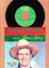 """CHRISTMAS  GENE AUTRY - RUDOLPH THE RED-NORED REINDEER """"JUKEBOX"""" 45 Pic Sle MINT"""