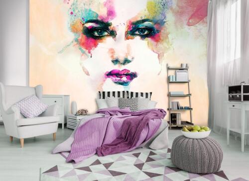Herbes papier peint Papier peint La Fresque Photo Wallpaper Mural Aquarelle visage 10749