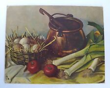 Vintage Henk Bos Contemporary Dutch STILL LIFE Lithograph Art Picture No. 339