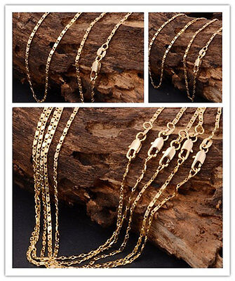 """1Pcs 22"""" Fashion 18K Yellow Gold filled Rolo Chain Necklace K1009"""