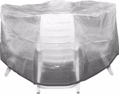 Sitzgruppenhülle Ø 320 cm x 95 cm transparent Schutzhülle für Gartenmöbel 703907