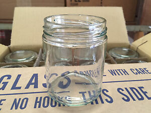 Case-12-034-Straight-Side-034-Glass-JARS-for-CANDLES-Jelly-Jam-6-oz-Choice-of-Lids