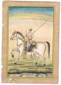 Hand-Painted-Miniature-Portrait-Of-King-With-Weapons-Painting-Finest-Detailed