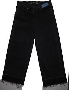 Nouveau-Debardeur-Noir-Cheville-Jambe-Large-Next-Jeans-Taille-12-Regulier-10-RRP-30