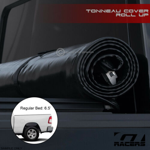 """For 2019 Dodge Ram 1500 6.4/'//76.8/"""" Bed Lock /& Roll Up Soft Vinyl Tonneau Cover"""