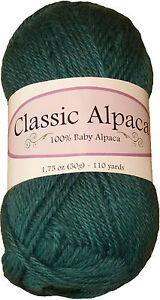 Classic-Alpaca-100-Baby-Alpaca-Yarn-1412-Spruce-50g-110-yds-DK-Peruvian