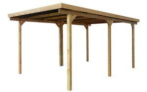 Das Bild Wird Geladen Holz Carport 500x300cm 5x3m Einzelcarport Garage  Flachdach Incl