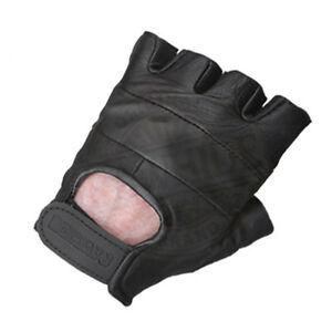 LEATHER-FINGERLESS-GLOVES-SUPER-SOFT-LAMBSKIN-RED-BLUE-amp-BLK-ALL-SIZES-XS-2XL