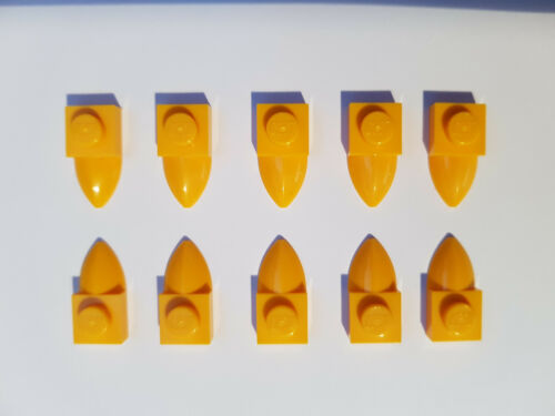 #aa53 Lego 10 x 49668 1x 1 Plate With Teeth Clear Orange 4282860