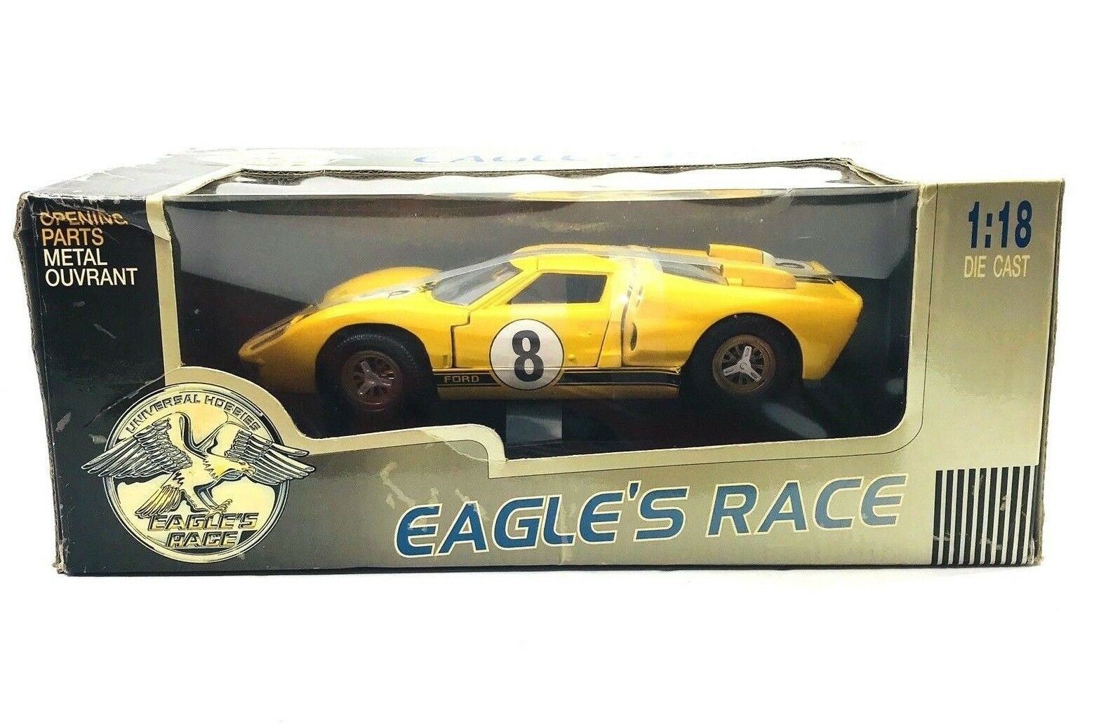 Nuevo Universal Hobbies Eagle's Race 1 18 Ford GT 40 MK II  8 Le Mans DIE CAST