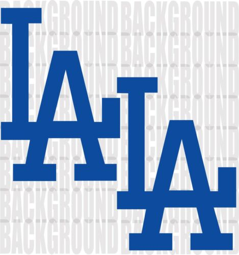 "2 Los Angeles Dodgers  Cornhole Decals LARGE 11x16/"" Bean Bag Toss Baggo"