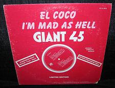 EL COCO I'm Mad As Hell b/w Love Vaccine (1977 U.S. White Label Promo 12inch)
