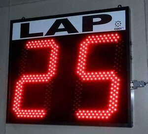 "LED Lap Counter Display - 2 Digit 12"" Large LED Digits"