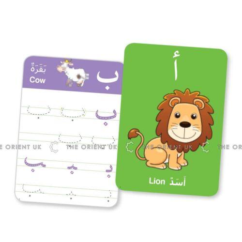 Il mio primo Arabo gioco per bambini gioco di carte Alfabeto & scrittura Penna + Panno