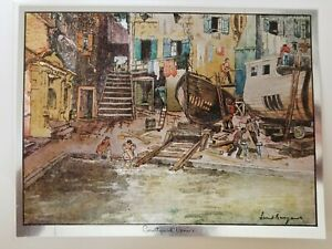 Lionel Barrymore Foil Etched Print Signed Courtyard Venice Ebay