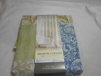 Kohl's Fabric Shower Curtain Bayside 70x72 Brown Green And Blue Medallion