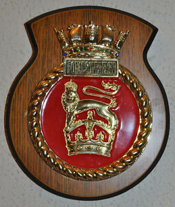 HMS-Royal-Sovereign-ward-room-plaque-Royal-Navy-RN-naval-wall-crest