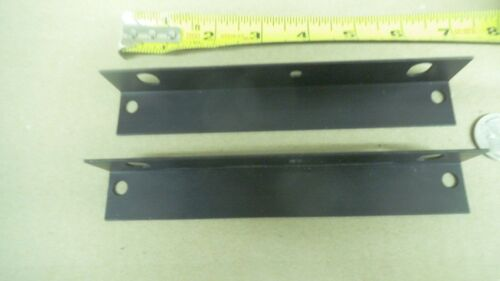 "Custom Anodized Aluminum L bracket 6-3//4/"" long x 1/"" tall x .055 thick 2 pieces"