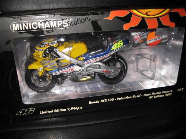 MINICHAMPS 1 12 HONDA NSR 500 TEAM NASTRO AZZURRO  ROSSI 46 MOTOR BIKE LeMANS GP