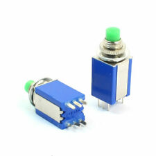 2 Pcs 8mm Thread Dpdt 2no 2nc 6pin Momentary Green Head Push Button Switch