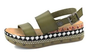 090c120973 Image is loading Blowfish-NEW-Lola-B-sage-green-platform-tribal-