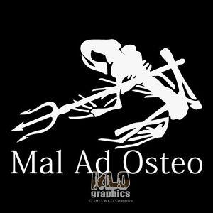 mal ad osteo frog w trident vinyl sticker decal design