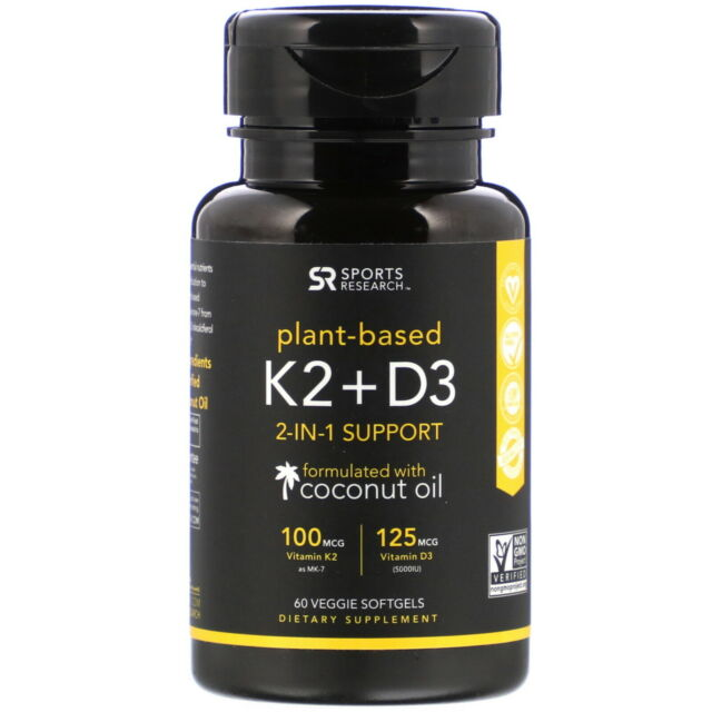 Vitamin K2 + D3, 60 Veggie Softgels