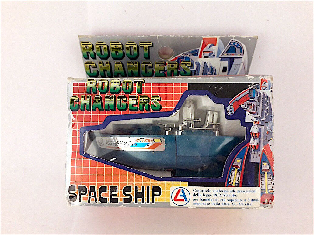 VINTAGE AL-ES ROBOT CHANGERS SPACE SHIP MARK TOYS MADE IN JAPANNUOVO