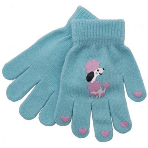 Childrens Kids winter gloves boys girls plain and magic gripper wool warm glove