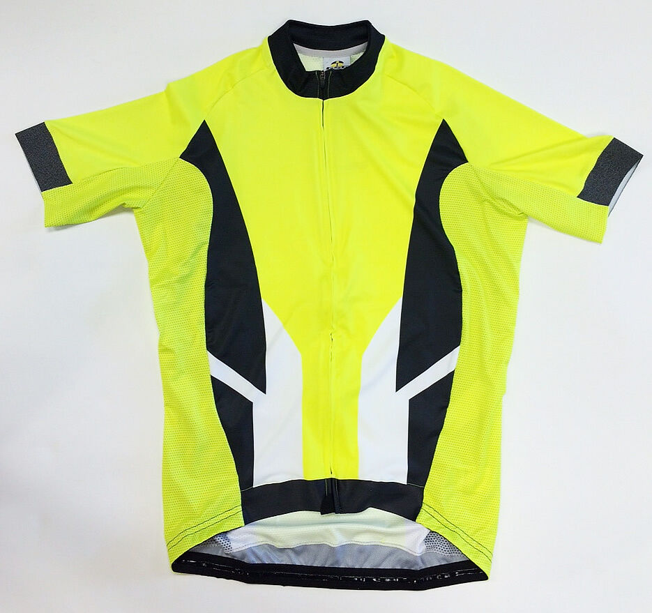 Bioceramic CYCLING JERSEY in Hi-Vis Yellow Made in  by GSG