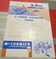 ancienne publicite tracteur Mc cormick charrue alternative