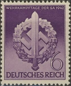 Stamp-Germany-Mi-818-Sc-528-1942-WW2-Fascism-War-Era-War-Storm-Trooper-MNH