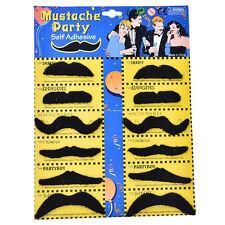 12pcs/set Costume Party Halloween Fake Mustache Funny Fake Beard Whisker funBBUS