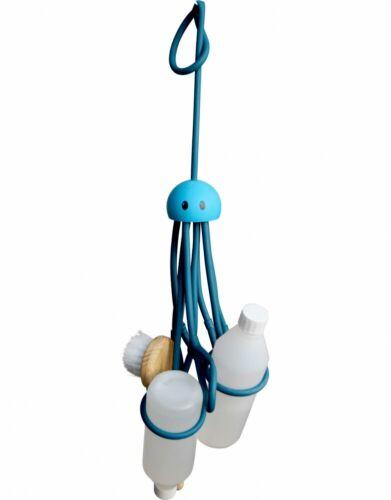 Blau Octopus Duschkrake Duschgel Shampoo Halter Duschablage Badablage