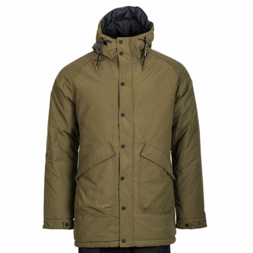Penfield Kingman Fishtail Insulated Parka Jacket Hooded in Green Olive Large