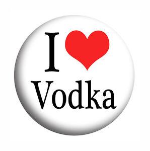 Fridge Magnet I Love Vodka Hen Night drink Badges Bottle Opener Pocket Mirror