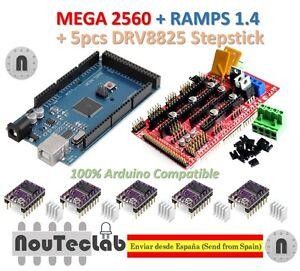 Mega-2560-R3-Ramps-1-4-Panel-de-control-5-un-DRV8825-unidad-de-paso-a-paso