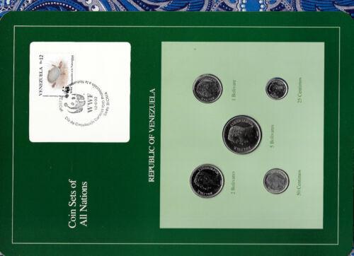 1000 bolivar 2007-2012 UNC 1 centimo Venezuela set of 7 coins