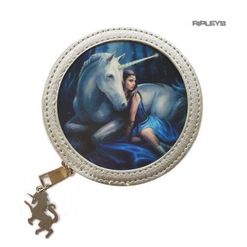 """Anne Stokes 3D Sac à main Porte-monnaie PVC Argent Licorne Fantasy /""""Blue Moon/"""" #3"""