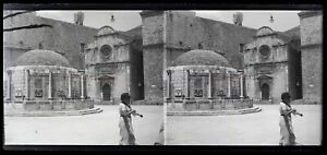 Croacia Dubrovnik c1920 Foto Negative Placa De Cristal Estéreo Vintage VR16L3n6