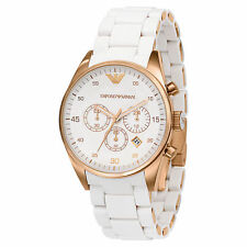 Emporio Armani AR5920 White dial Women's chronograph Watch
