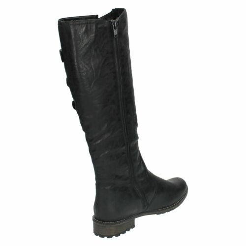 Boots Ladies Vaviable R3370 Leg sintetico Warm Nero Lined Remonte Long wrSqrRf0x