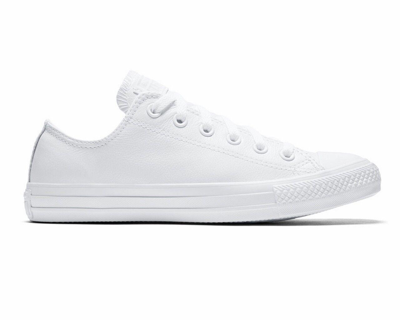 Converse Chuck Taylor All Star OX 136823C in Pelle Uomini Scarpe da ginnastica White Donna Scarpa