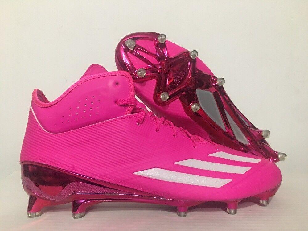 Adidas Adizero 5-Star 5.0 Mid Football Cleats Pink White BCA SZ 13