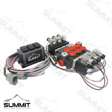 Hydraulic Monoblock Directional Solenoid Control Valve 3 Spool 13 Gpm With Switch
